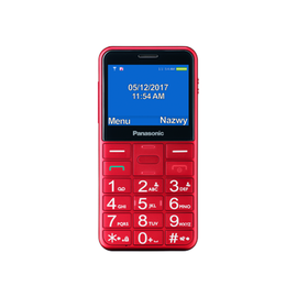 Mobilais telefons KX-TU155EXRN, sarkana, 64MB