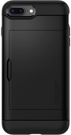 Spigen Slim Armor CS Wallet Back Case For Apple iPhone 7 Plus/8 Plus Black
