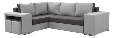 Stūra dīvāns Idzczak Meble Macho Dark Grey/Grey, labais, 275 x 215 x 85 cm