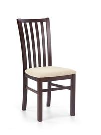 Ēdamistabas krēsls Halmar Gerard 7 Dark Walnut/Torent Beige