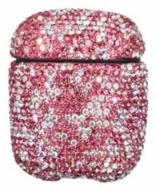 TakeMe Ultra-Thin Protective Case With Sparkle Diamonds For Apple AirPods Pink