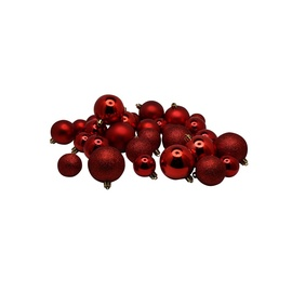 Ziemassvētku eglītes rotaļlieta Christmas Touch N4/LX30BALL Red, 30 gab.