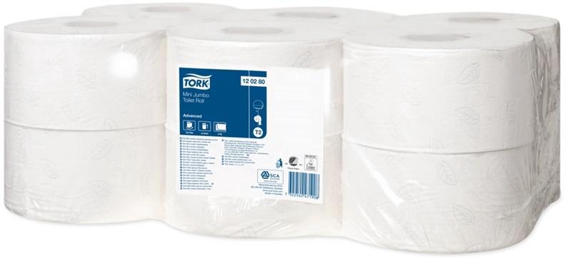 Tork Advanced Mini Jumbo Toilet Paper 170m White