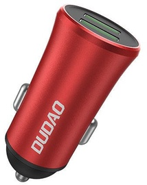 Dudao Smart Dual USB Car Charger Red