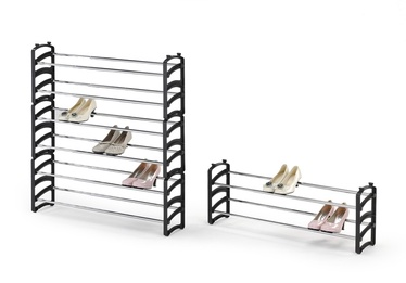 Шкаф для обуви Halmar ST, черный/хромовый, 1150x620x330 мм