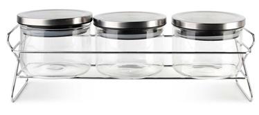 Mondex Cookini Jars On Rack 500ml 3pcs