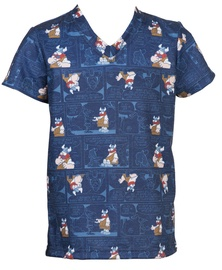 Bars Mens T-Shirt Blue 34 152cm