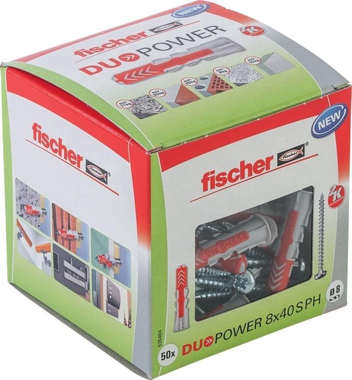 Fischer DuoPower Dowels 8x40 S PH LD 50pcs