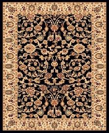 Ковер Mutas Carpet 2723b_h0115, черный, 150 см x 100 см