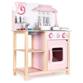 Ролевая игра EcoToys Wooden Kitchen With Sounds Pink