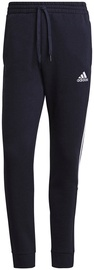 Adidas Essentials Fleece Tapered Cuff 3-Stripes Pants GK8977 Navy S