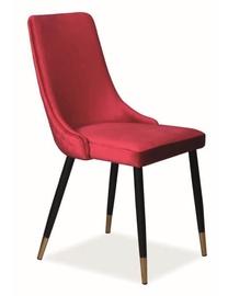 Ēdamistabas krēsls Signal Meble Piano Velvet Burgundy, 1 gab.