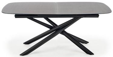Pusdienu galds Halmar Capello, melna/pelēka, 1800x950x770mm