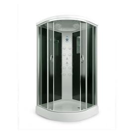 Dušas kabīne Erlit ER4509P-C4, masāžas, pusapaļā, 900x900x2150 mm