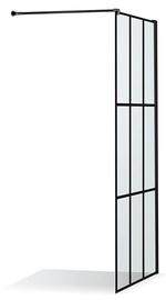 Стенка для душа Brasta Dija Nero Cube, 900 мм x 2000 мм