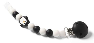 BabyOno Dummy Ribbon White/Black