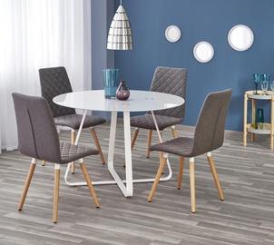 Pusdienu galds Halmar Looper, balta, 1150x1150x760mm