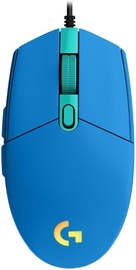 Spēļu pele Logitech G203 Lightsync, zila, vadu, optiskā