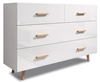 Kumode Vivaldi Meble Sweden White/White Gloss