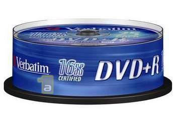 Verbatim DVD+R 25-P 4,7GB 16X