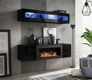 Dzīvojamās istabas mēbeļu komplekts ASM Fly N2 Black