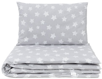 MamoTato Bedding Set Stars Grey 2pcs