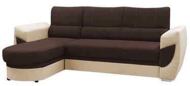 Stūra dīvāns Idzczak Meble Trendi Bahama 08 Brown/Soft 33 Beige, 250 x 170 x 97 cm