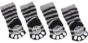 Karlie Flamingo Socks For Dogs XS 39x28mm Black/Grey 4pcs