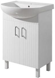 Vannas istabas skapītis Sanservis Proksi-50 500x880x420mm White