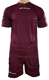 Givova Sports Wear Kit MC Maroon Red XS