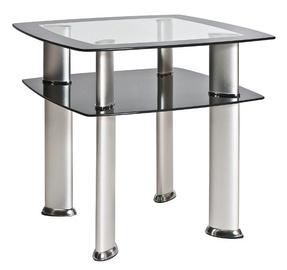 Kafijas galdiņš Signal Meble Daria D Silver, 600x600x550 mm