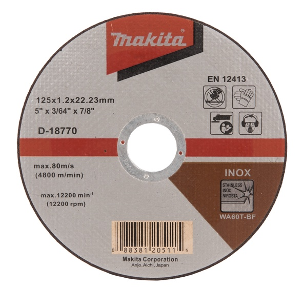 Griešanas asmens Makita D-18770 Metal Cutting Disc 125x22.23mm