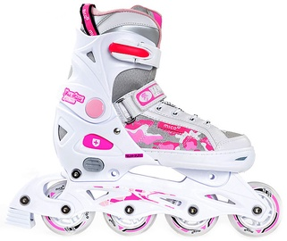 Skrituļslidas Mico Plus Princess 2in1 White/Pink, 33-36