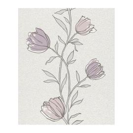Rasch Vinyl Wallpaper 933307 White/Purple