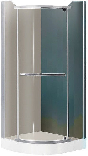 Roth Denver Matte Silver Painted Brown Glass Shower