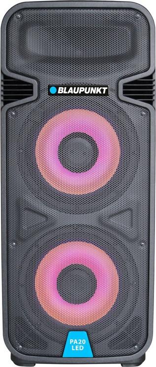 Bezvadu skaļrunis Blaupunkt PA20LED, melna, 800 W