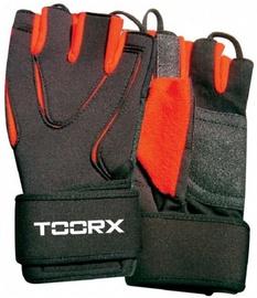 Перчатки без пальцев Toorx AHF035, черный/красный, L