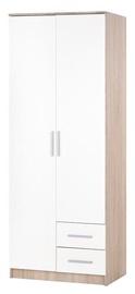 Skapis Halmar Lima S-2 White, 80x52x205 cm