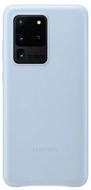 Samsung Leather Back Case For Samsung Galaxy S20 Ultra Blue