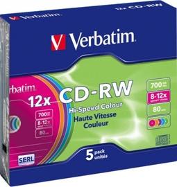 Verbatim CD-RW 700MB 12x 5pcs