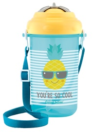 Bērnu pudele dzeršanai Canpol Babies Sport Cup So Cool With Silicone Straw 400ml Yellow