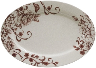 Claytan Shabby Chic Pink Oval Plate 36.2cm