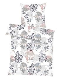 Комплект постельного белья Domoletti, белый/розовый/серый, 140x200