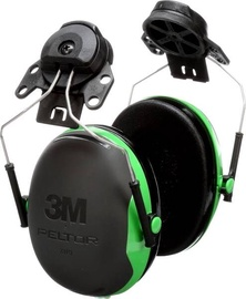 3M Peltor X1P3E Protective Ear Caps Black/Green