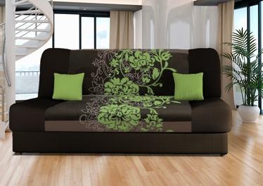 Dīvāngulta Platan Jas Kwiaty Green, 188 x 85 x 90 cm
