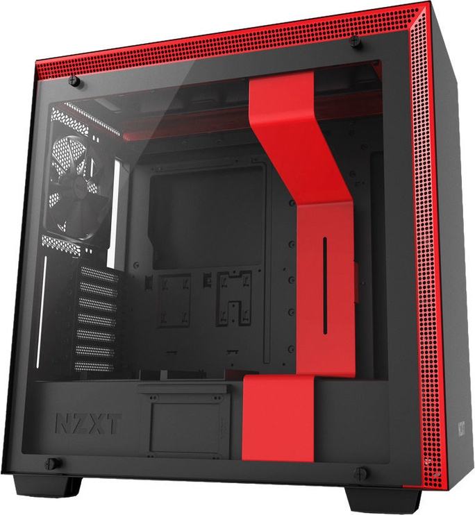 NZXT H700 Mid Tower E-ATX Black/Red