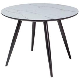Обеденный стол Signal Meble Ideal Grey/Black, 1000x1000x750 мм