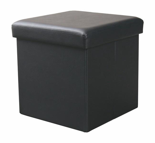 Pufs Halmar Moly Black, 38x38x38 cm