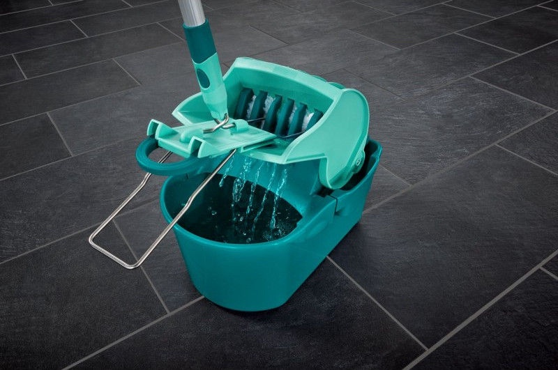 Leifheit Bucket And Brush For Floor Cleaning Profi Compact Press