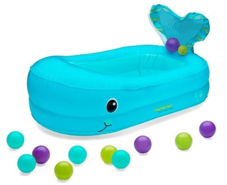 Infantino Whale Bubble Bath Inflatable Bath Tub Blue